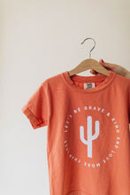Load image into Gallery viewer, be brave kids tee | peach