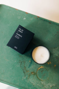 amber + oakmoss | glass candle