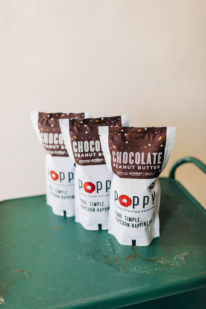 chocolate peanut butter | popcorn market bag