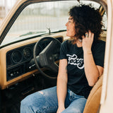 the groovy tx tee | charcoal