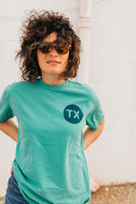 the lone star tee | seafoam