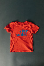Stay Wild Kids Tee | USA Made Collection-Ramble and Company-kids graphic tees-usa made-positive bold kids tees