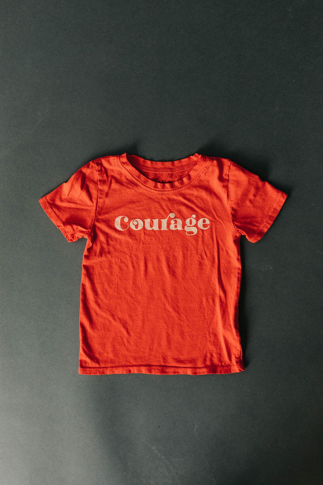 Courage Kids Tee | USA Made Collection-Ramble and Company-kids graphic tees-usa made-positive bold kids tees