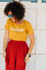 the courage tee | golden spice