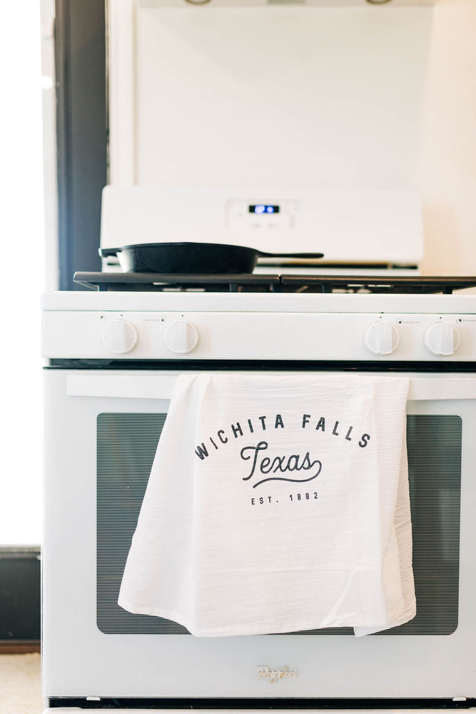 wichita falls script | tea towel