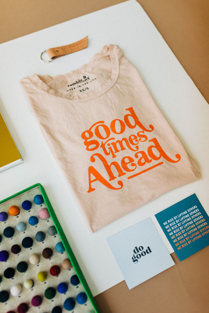 the good times ahead tee | cream