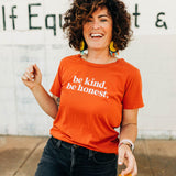 the be kind tee | gold flame