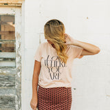 the love where you are tee | cream