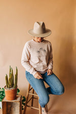 the growth raglan sweatshirt by Daisy Made + Ramble & Company || shop now at rambleandcompany.com or visit our storefront in downtown Wichita Falls, Texas || soft inspirational graphic sweatshirts and t-shirts