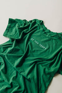 the be you today tee | grass green
