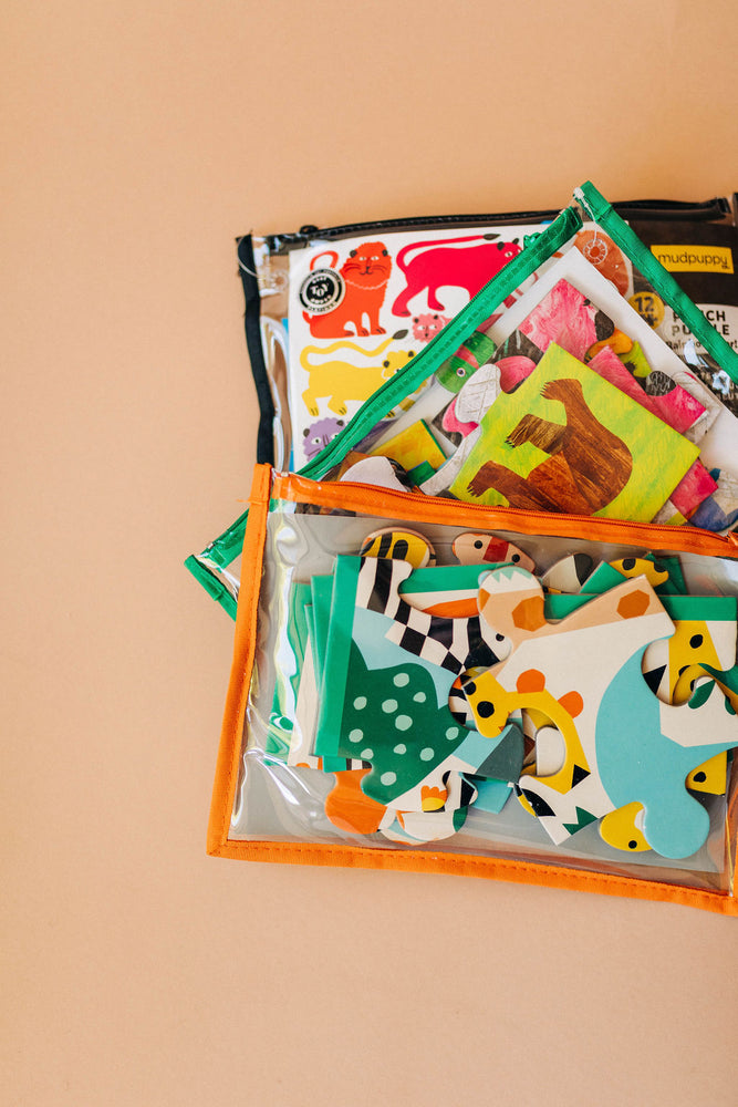zoo animals | pouch puzzle