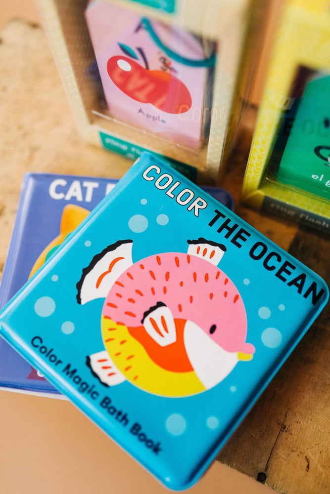 color the ocean | magic bath book