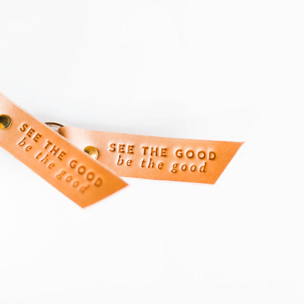 Leather Key Fob | See the Good, Be the Good
