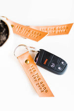 Leather Key Fob | See the Good, Be the Good - ramble-and-company.myshopify.com - Accessories