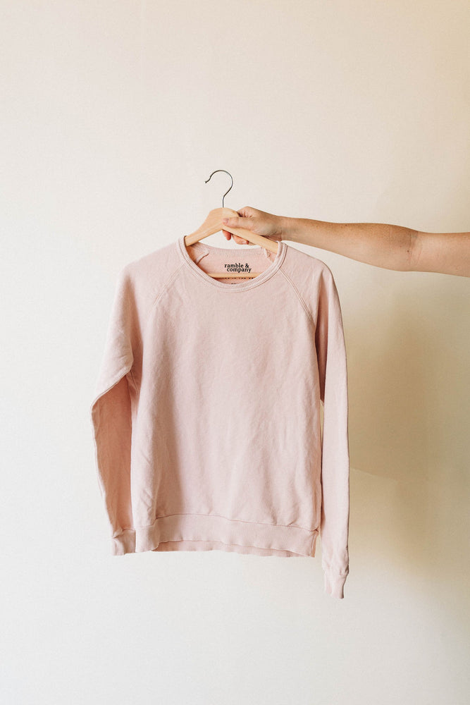 the basic raglan in cream tan by Ramble & Company || shop now at rambleandcompany.com or visit our storefront in downtown Wichita Falls, Texas || soft inspirational graphic and blank sweatshirts and t-shirts