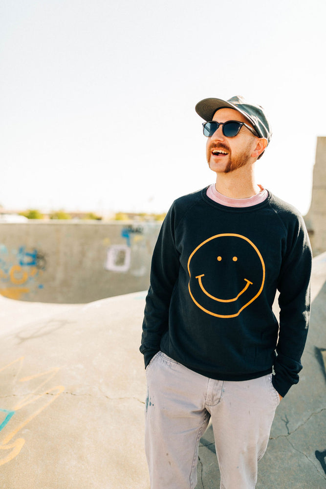 the smile raglan | blue graphite