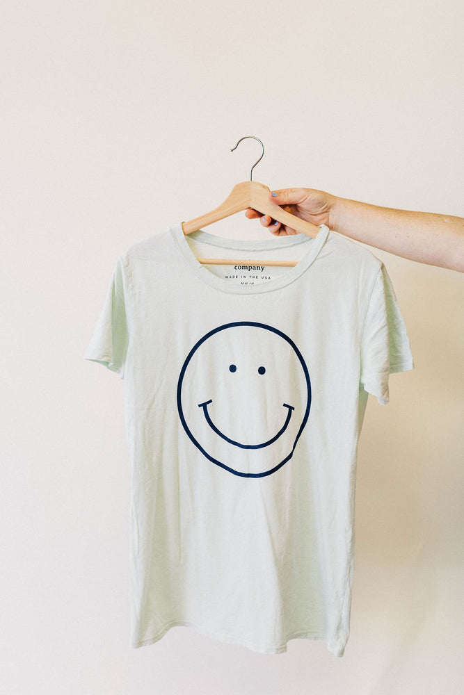 the smile tee | milky green