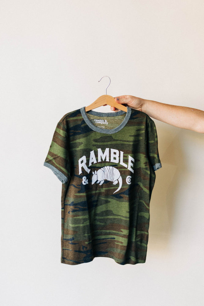 the ramble tee in camo | kids