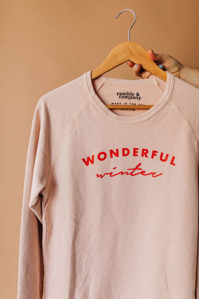 the wonderful winter sweatshirt | raglan