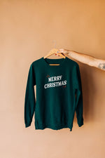 the merry christmas sweatshirt | side slit