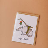 merry christmas armadillo | notecard
