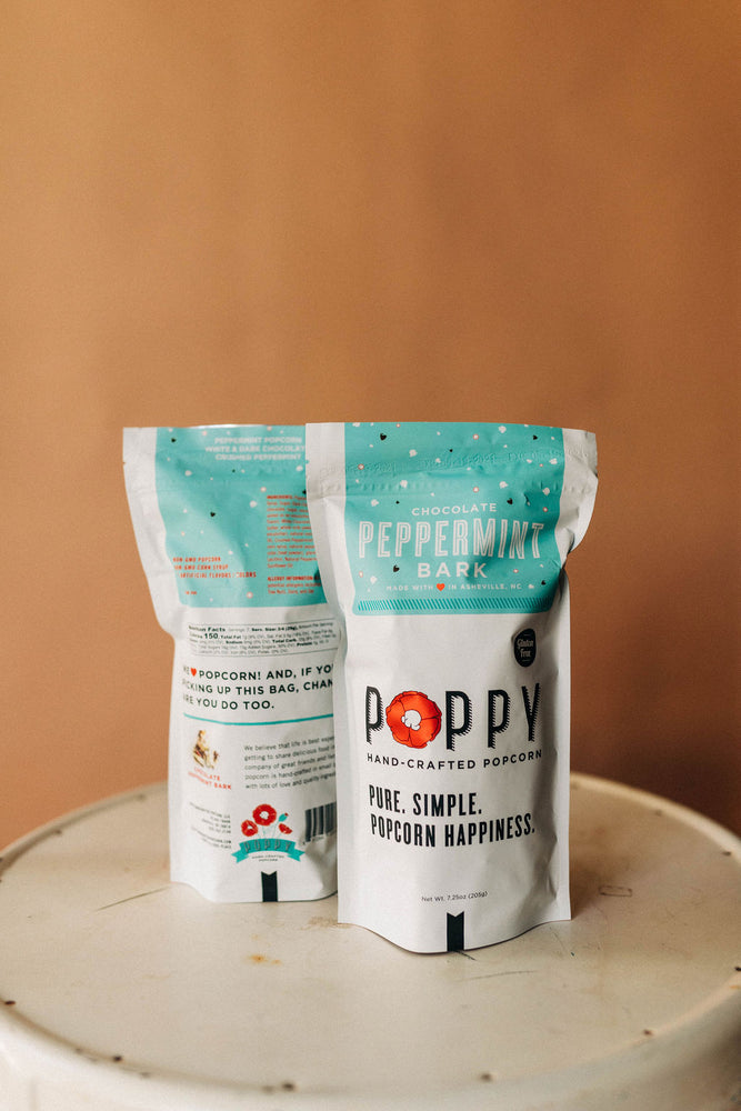 chocolate peppermint | popcorn market bag