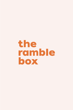 Load image into Gallery viewer, The Ramble Box // quarterly subscription box from Ramble & Company // exclusive graphic tee and other themed items