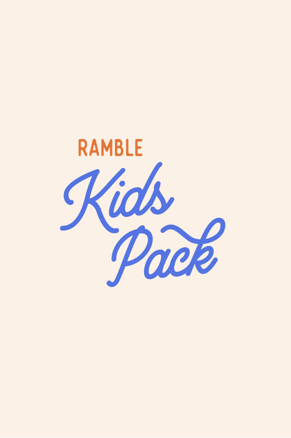 Ramble Kids Pack // quarterly subscription box from Ramble & Company // exclusive graphic tee and themed educational activity for kids