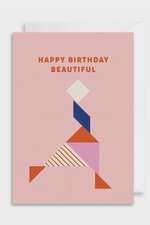 happy birthday beautiful | notecard