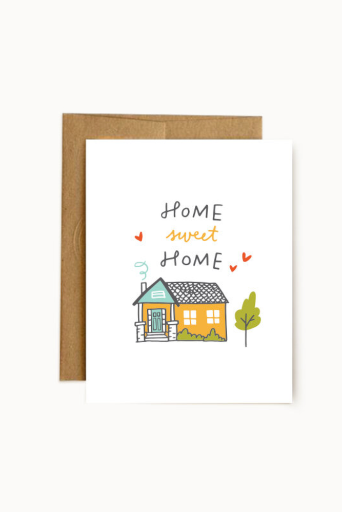 home sweet home | notecard