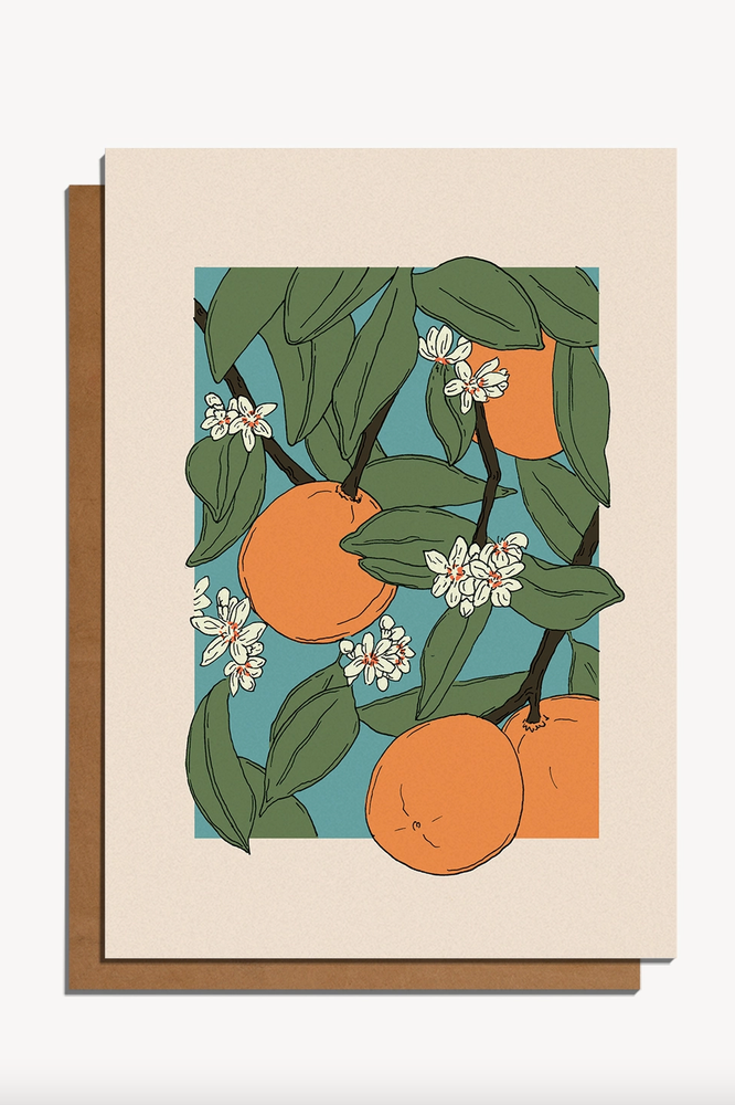 oranges | notecard