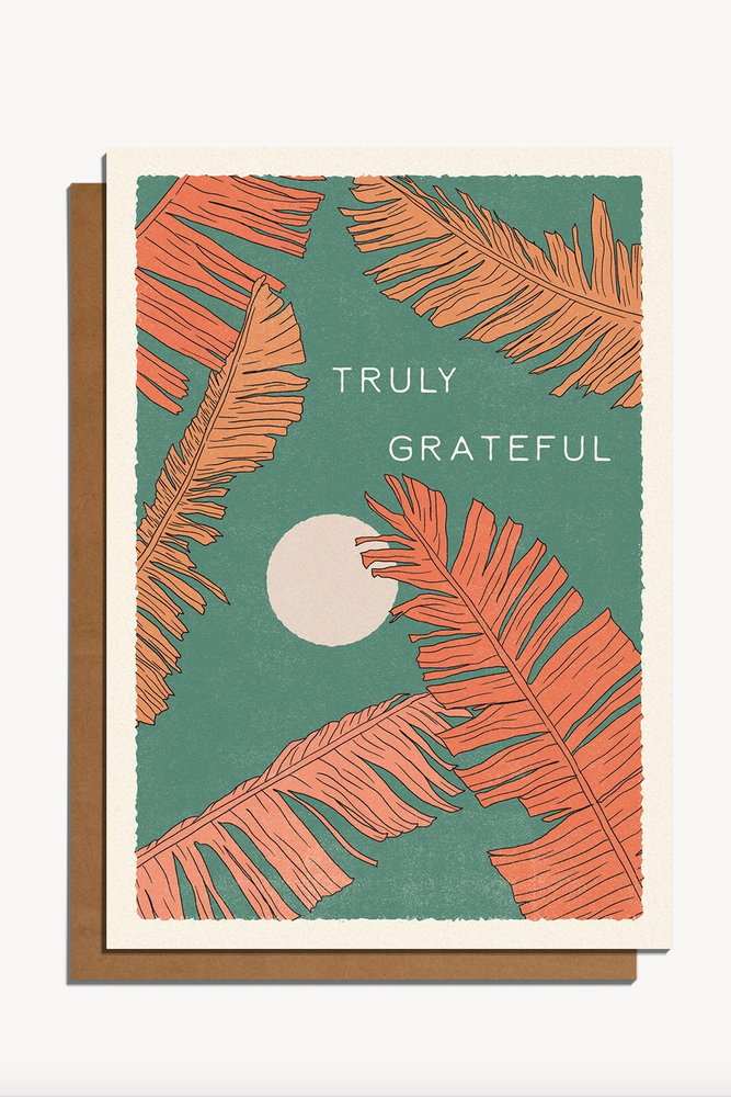 truly grateful | notecard