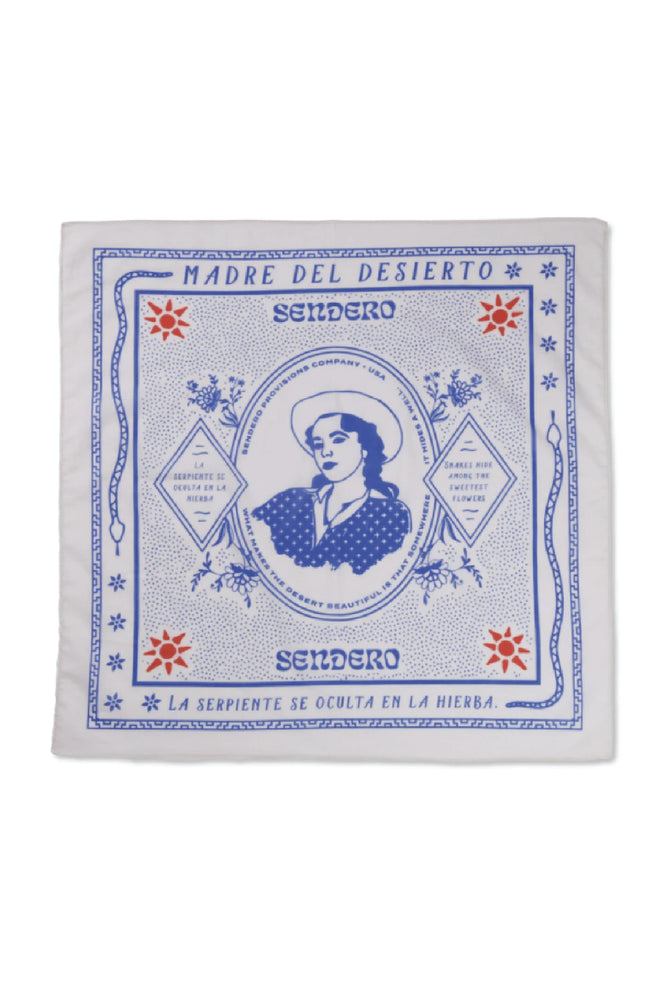 sendero madre del desierto bandana by Ramble & Company || shop now at rambleandcompany.com or visit our storefront in downtown Wichita Falls, Texas || soft inspirational graphic t-shirts