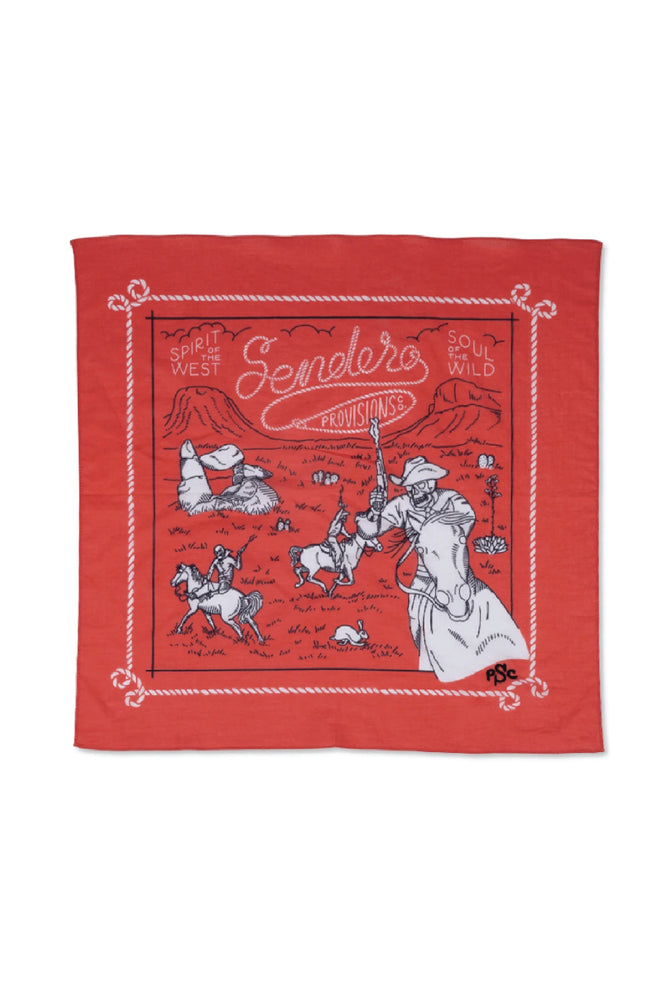 sendero skeleton riders bandana by Ramble & Company || shop now at rambleandcompany.com or visit our storefront in downtown Wichita Falls, Texas || soft inspirational graphic t-shirts