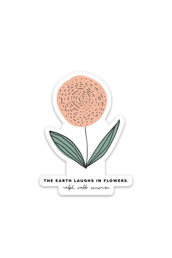 the earth laughs | sticker