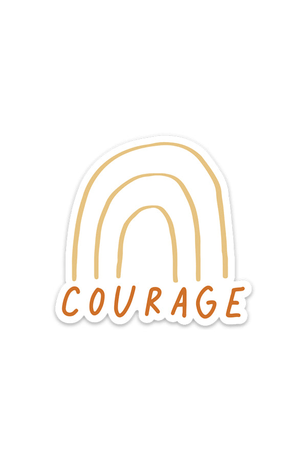 courage rainbow | magnet