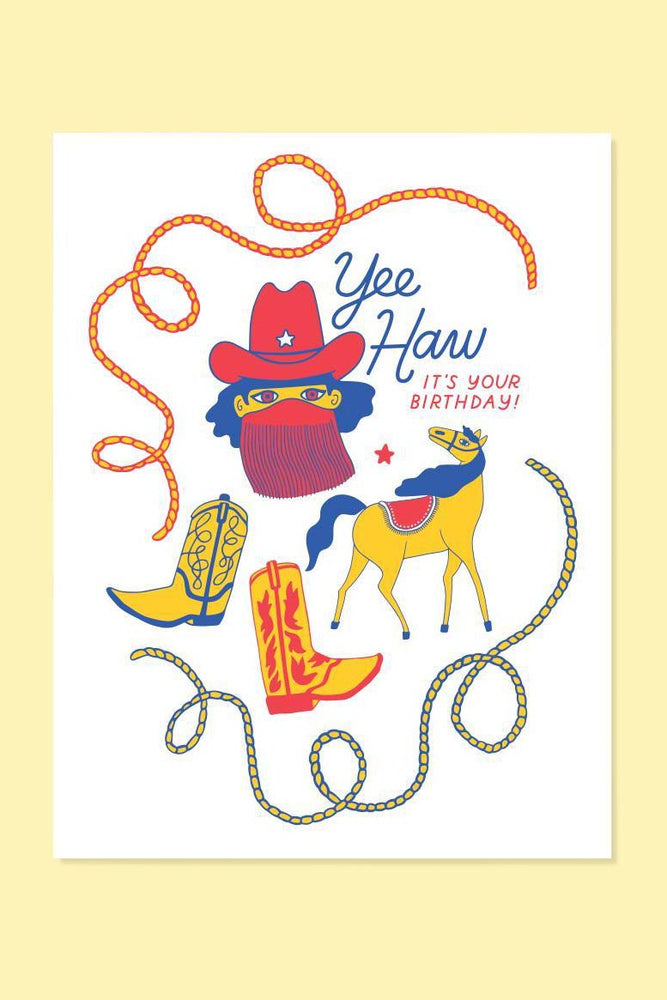 yeehaw birthday | notecard