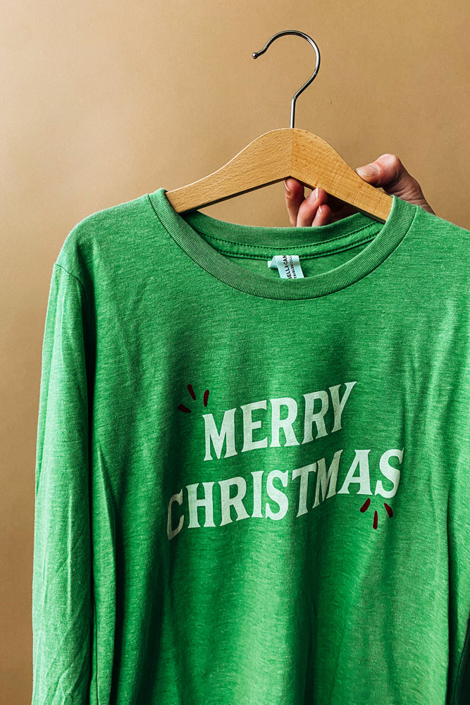 merry christmas long sleeve | kids
