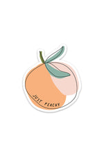 just peachy | sticker