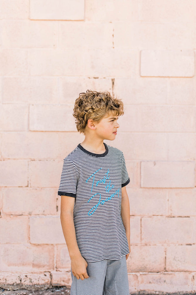 trust the journey stripe tee | youth