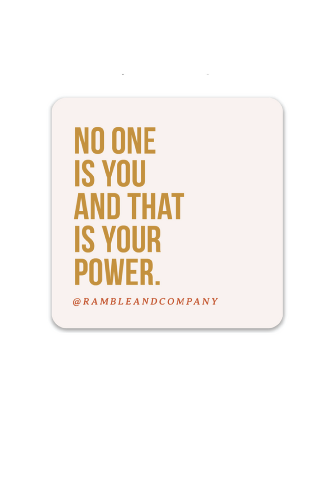 no one is you | sticker