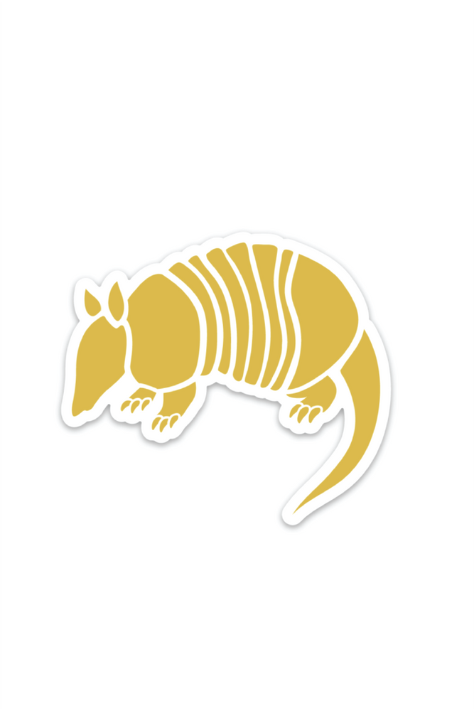 armadillo mustard sticker