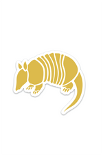 armadillo mustard | sticker