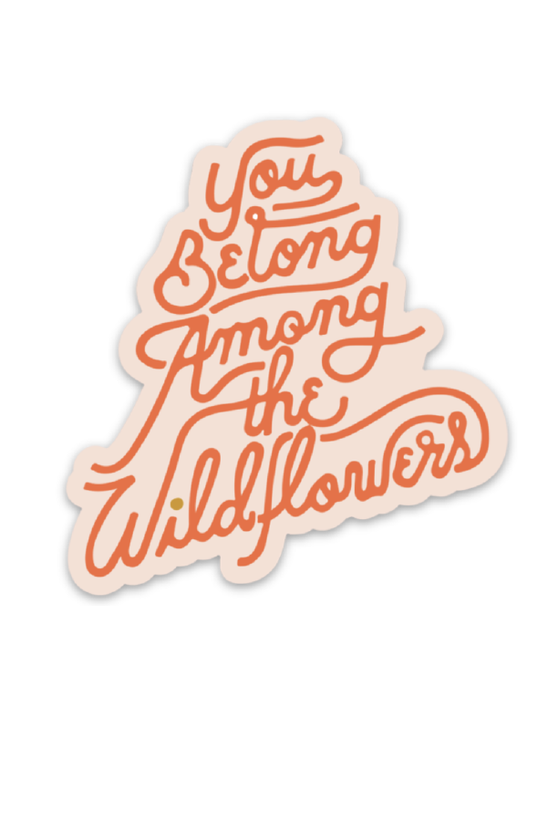 among the wildflowers | sticker