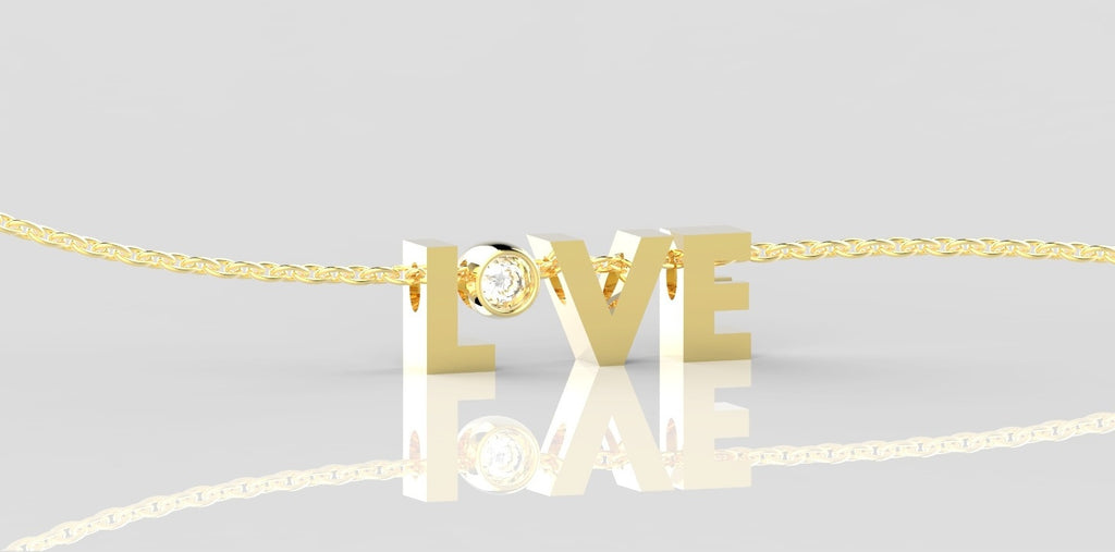 Tabs Love combinatie 14k goud