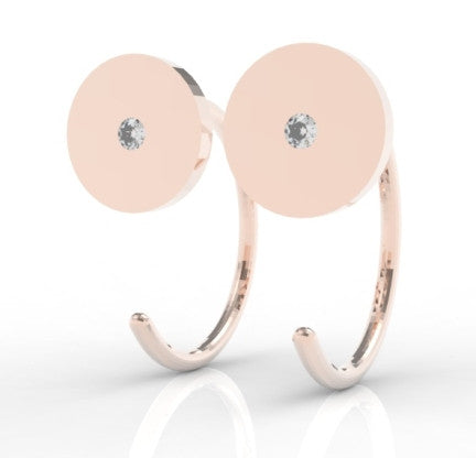 In Giro oorbellen 14k goud - set