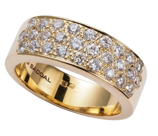 Stretto ring 18k geel goud