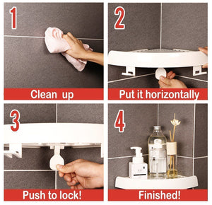 Power Adhesive Corner Shelf