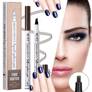 Fork Tip Waterproof Eyebrow Pen