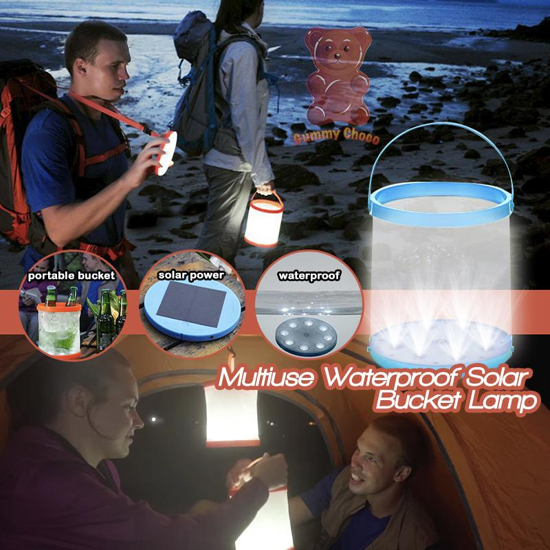 Multiuse Waterproof Solar Bucket Lamp